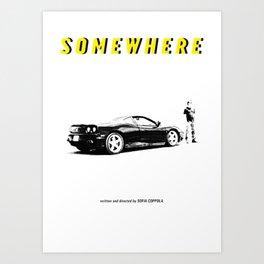SOMEWHERE -SOFIA COPPOLA- Art Print