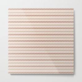 Nautical Ropes Pattern Design - Design by Cheyney Metal Print