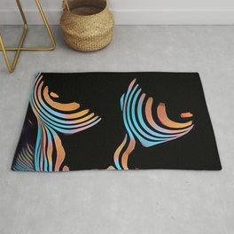 5126s-MAK Abstract Large Breasts Torso Composition Style Rug
