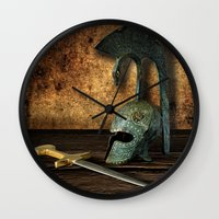 medieval Wall Clocks featuring Medieval by David gonzalez