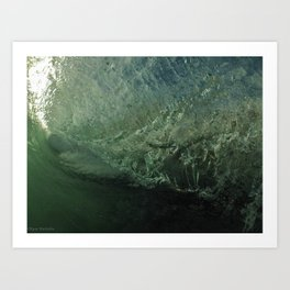 Inside The Wave Art Print