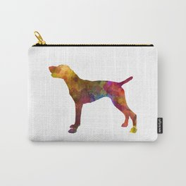 German Shorthaired Pointer in watercolor Carry-All Pouch