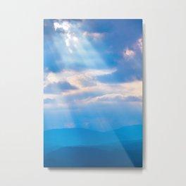Smoky Mountain Rays Metal Print