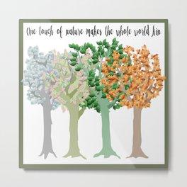 Four Season Trees Metal Print