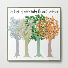 Four Season Trees Metal Print