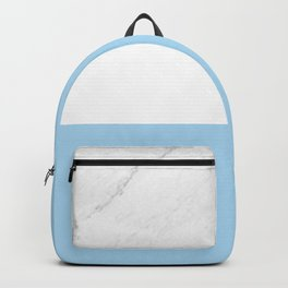 Marble Sky Blue White Color Block Modern Geometry Backpack