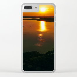 When the sun went down Clear iPhone Case
