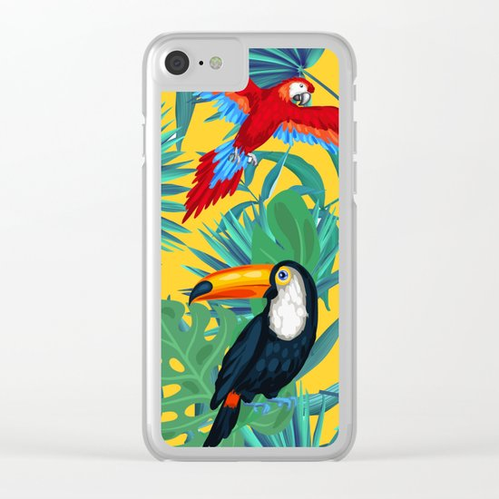 tropical yellow Clear iPhone Case