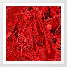 Red Hot Music Art Print