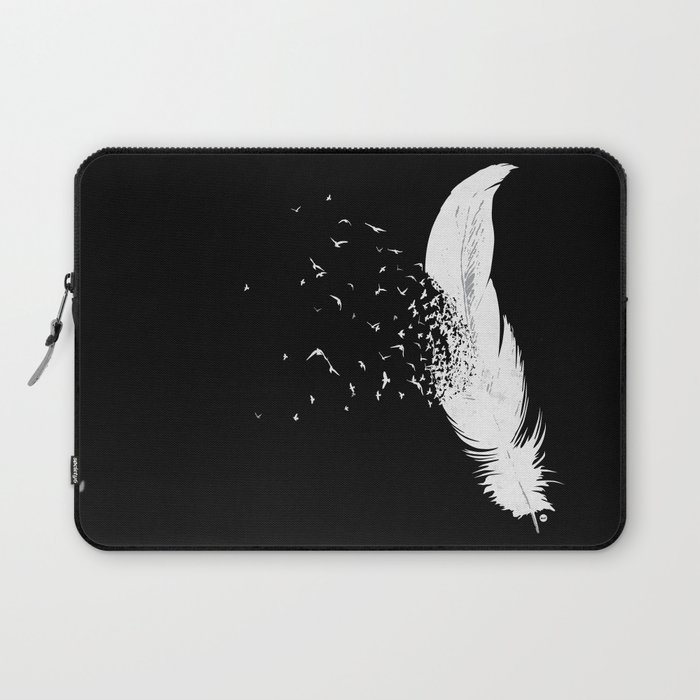 Birds of a Feather (Black) Laptop Sleeve