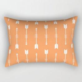 Orange & White Arrows  Rectangular Pillow
