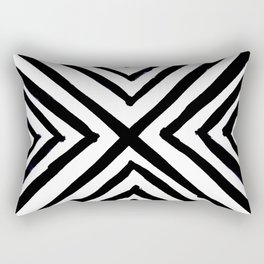 Angled Stripes Rectangular Pillow
