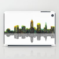 cleveland iPad Cases featuring Cleveland Skyline by Marlene Watson