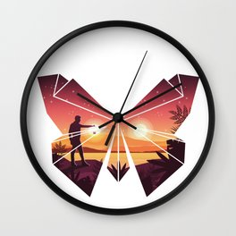 Origami Butterfly Wall Clock