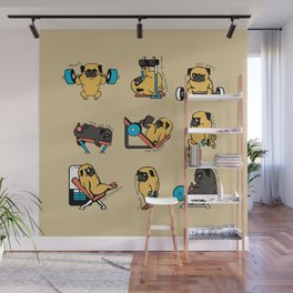 Pug Leg Day Wall Mural