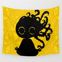yoga Wall Tapestries featuring Yoga by BLOOP