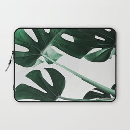 Monstera, Leaves, Plant, Green, Scandinavian, Minimal, Modern, Wall art Laptop Sleeve