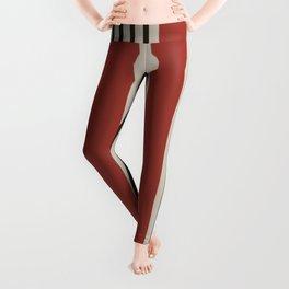 Decorative boho red stripes Leggings
