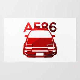 Toyota AE86 Hachi Roku - classic red - Rug