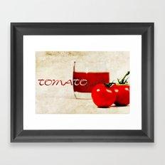 Tomato juice Framed Art Print