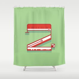 Alphabet Drop Cap Series- 2 Shower Curtain