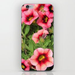 Red Pink Flowers iPhone Skin