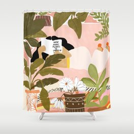 How Many Plants Is Enough Plants? Shower Curtain