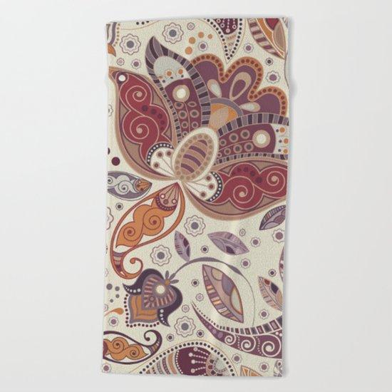 Shabby flowers #30 Beach Towel