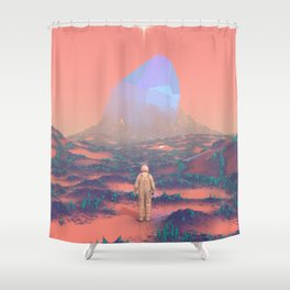 Lost Astronaut Series #02 - Giant Crystal Shower Curtain