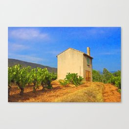 The Little House In The Vineyard Canvas Print