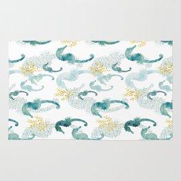 Pointillism Seahorse Rug