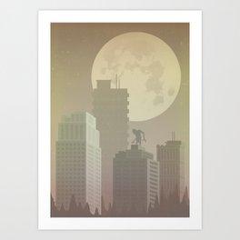 Abandoned city Art Print