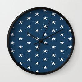 Lazy Stars (Aegean Blue/Warm White) Wall Clock