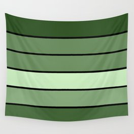 Green Stripes Wall Tapestry