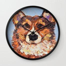 Desi the corgi Wall Clock