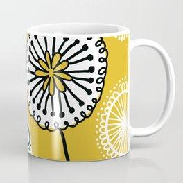 Folksy Floral in Yellow Coffee Mug