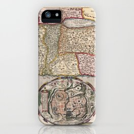 Map Of The Holy Land 1642 iPhone Case
