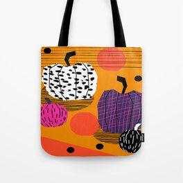 Yar - pumpkin halloween fall autumn throwback retro style fashion urban trendy 1980s 1980 80s 80's  Tote Bag