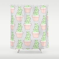 cacti Shower Curtains featuring Cacti  by Sarah Kennedy