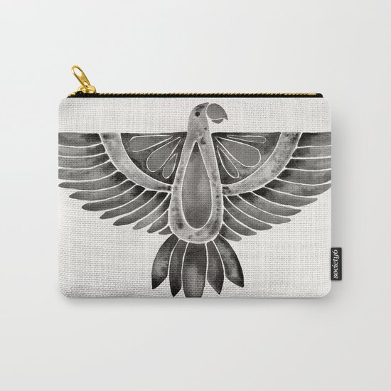 Black Parrot Carry-All Pouch