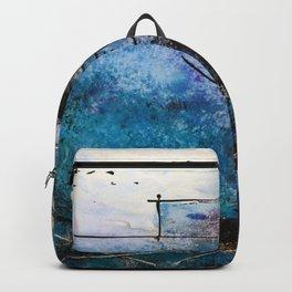 Midnight Sky, Acrylic artwork Backpack