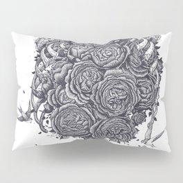 Ribs with peonies Pillow Sham
