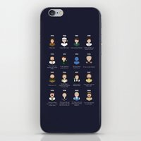 robin williams iPhone & iPod Skins featuring The Faces of Robin Williams by Dorothy Leigh