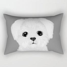 bw maltese Rectangular Pillow