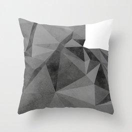 Concrete Polygonal texture Throw Pillow