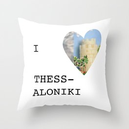 I love Thessaloniki Throw Pillow