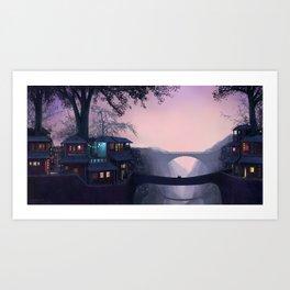 Between the Twin Cities Art Print