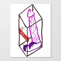 penis Canvas Prints featuring Fragile (Penis in a Box) by FABIO MIGGIANO_H13