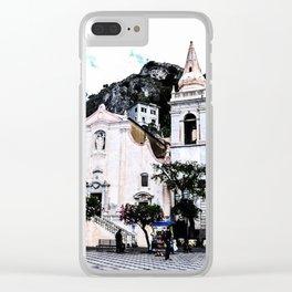 Piazza IX Aprile Clear iPhone Case