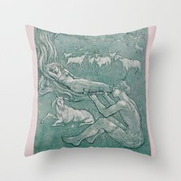 Daphnis and Chloe Throw Pillow